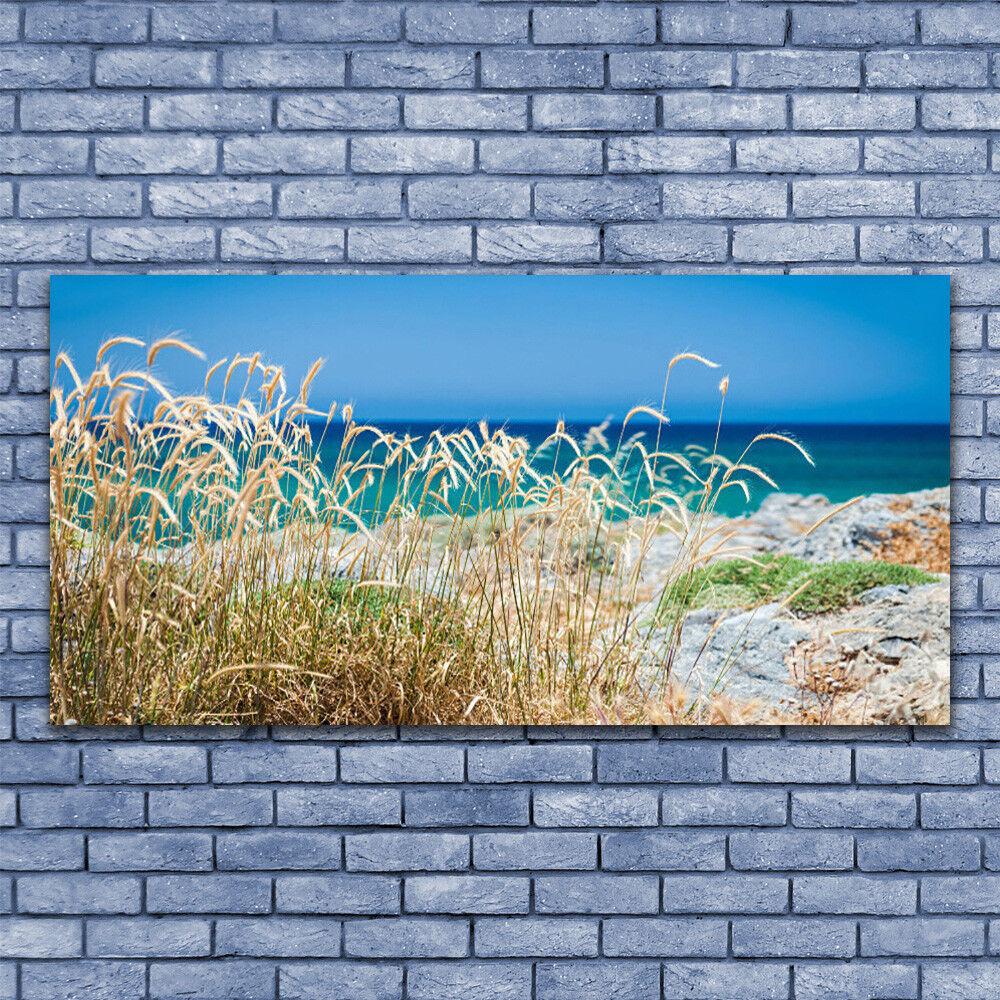 Wandbilder Glasbilder Druck auf Glas 140x70 Strand Landschaft