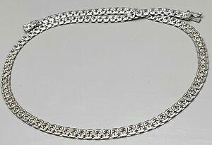 835-Silber-Collier-von-GLORI-Vintage-60er-70er-Jahre-46-cm-lang-A152