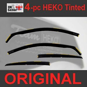 FORD-FOCUS-MK3-Saloon-Hatchback-5-D-2011-2018-4-pc-Wind-Deflectors-Heko-Tinted