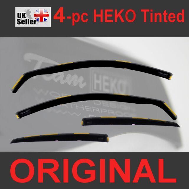 TOYOTA AURIS II Hatchback 5-doors 2013-onwards 4-pc wind deflectors HEKO Tinted