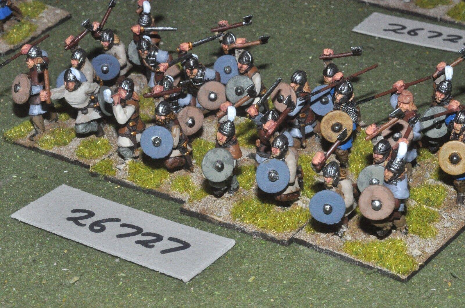 25mm roman era   early frank - warband 24 figures - inf (26727)