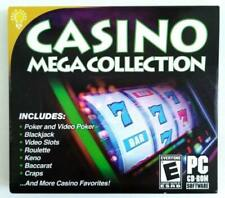 Casino Mega Collection Poker Blackjack Roulette Craps PC Dvd-rom