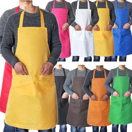 Pro Fashion Men Women Cooking Kitchen Restaurant Chef Bib Apron with 2Pcs Pocket