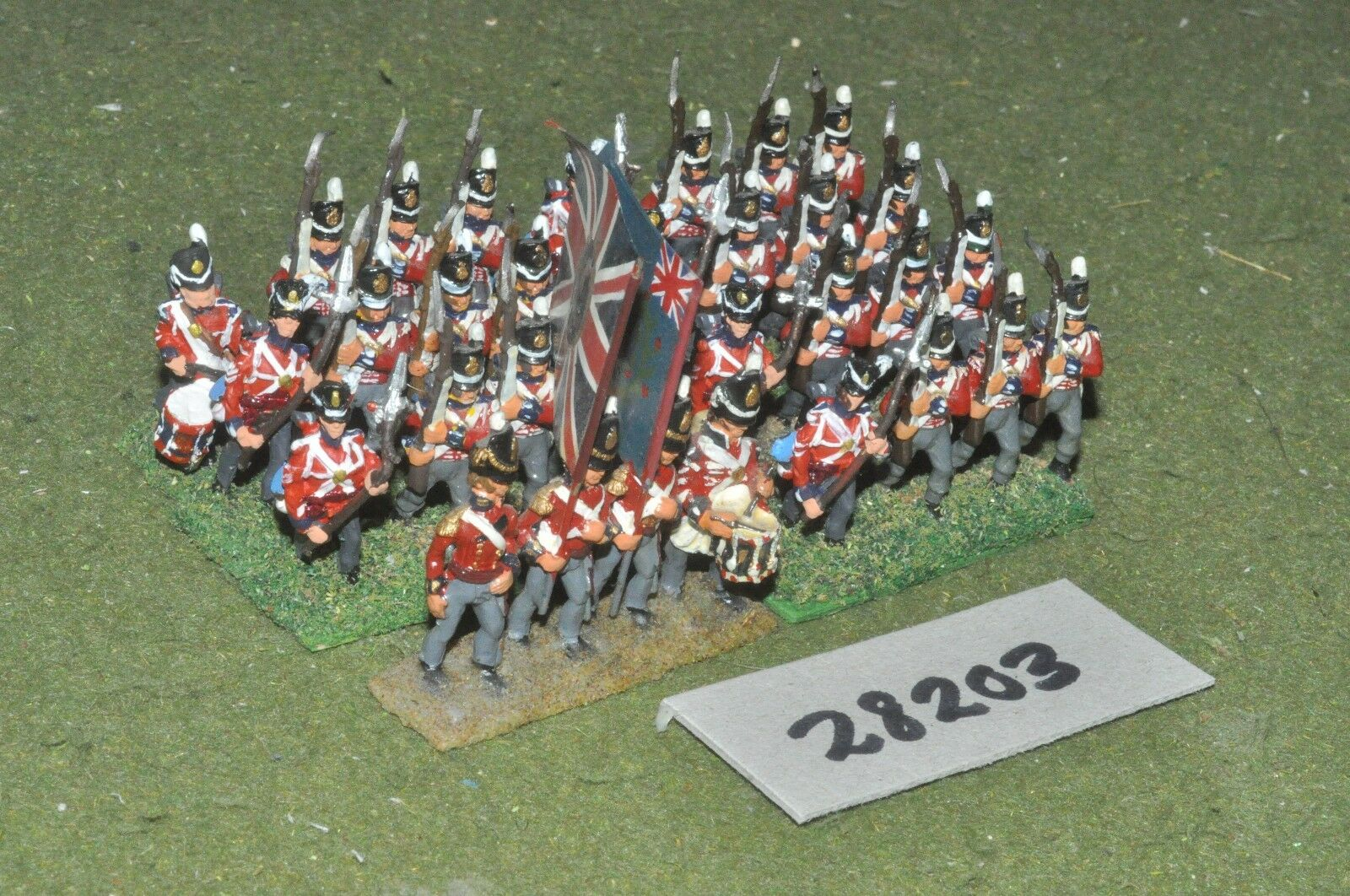 25mm napoleonic   british - line 32 figures - inf (28203)