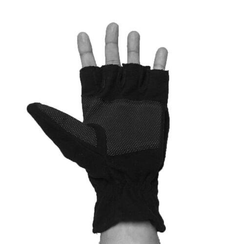 LSM Fleece Convertible Fingerless Winter Warm Mittens Gloves Men Women NEW