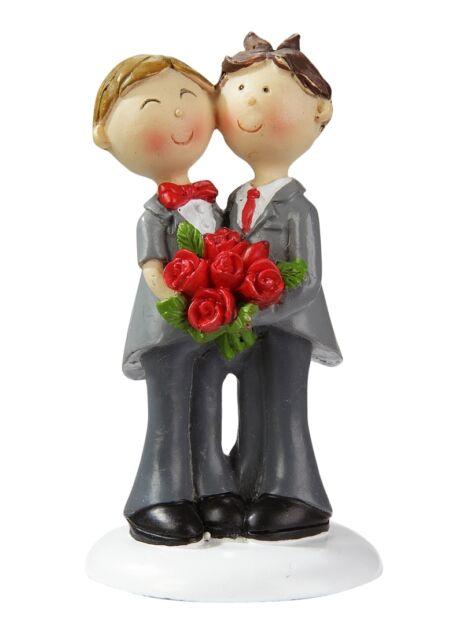 CREApop® schwules oder lesbisches Hochzeitspaar  9 cm Tortenfigur