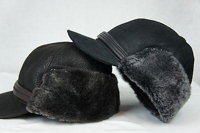 ff84e4065bc NEW100% Sheepskin Shearling Leather Trapper Elmer Fudd Hunting Aviator Hat  M-3XL