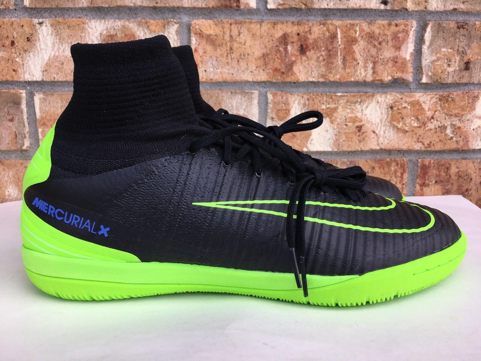Men's Nike MercurialX Proximo II IC Indoor Soccer Soccer Soccer shoes Black Size 9 831976-034 58fecc