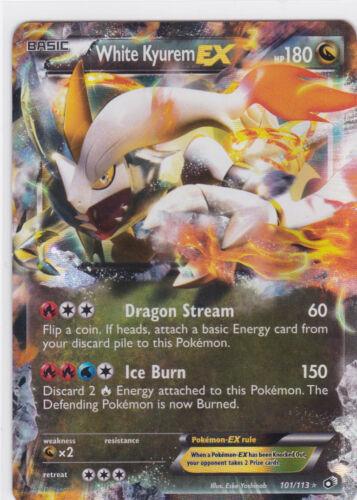 White Kyurem Ex Holo N/&B:Legendary Treasures-101//113-Carte Pokemon Neuve VO