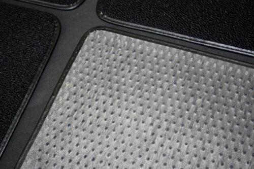 NEW 2007-2009 Trailblazer Floor Mats Black Carpet Embroidered SS Logo Red all 3