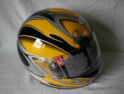 THH T-888 Integralhelm Sturzhelm Helm Motorradhelm Mopedhelm Gelb Größe XL