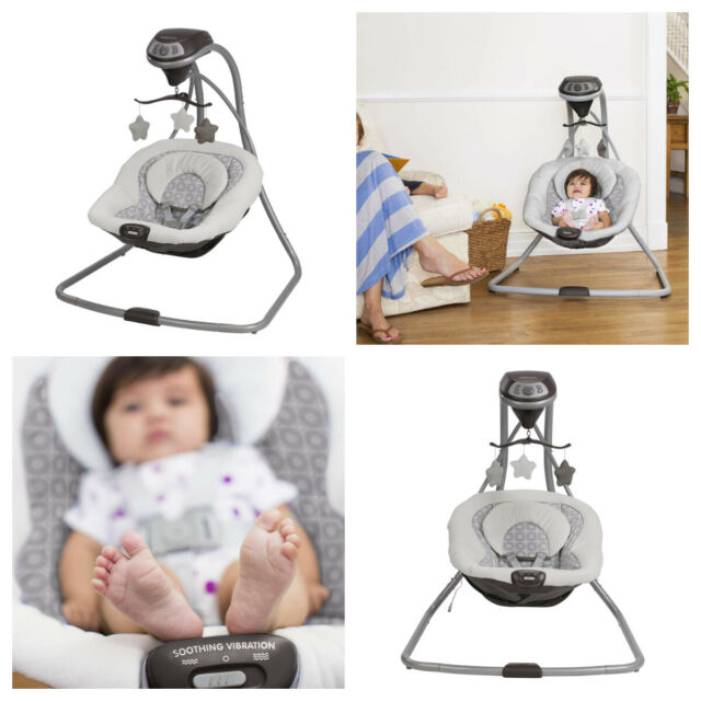 Graco Simple Sway Baby Swing Infant Bouncer Cradle Vibrating Seat Abbington