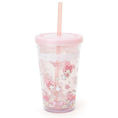 New SANRIO My melody With straw clear cup Japanese