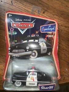 Disney-Pixar-Cars-Sheriff-Cop-Police-Supercharged-Mattel-Die-Cast-Toy-Car