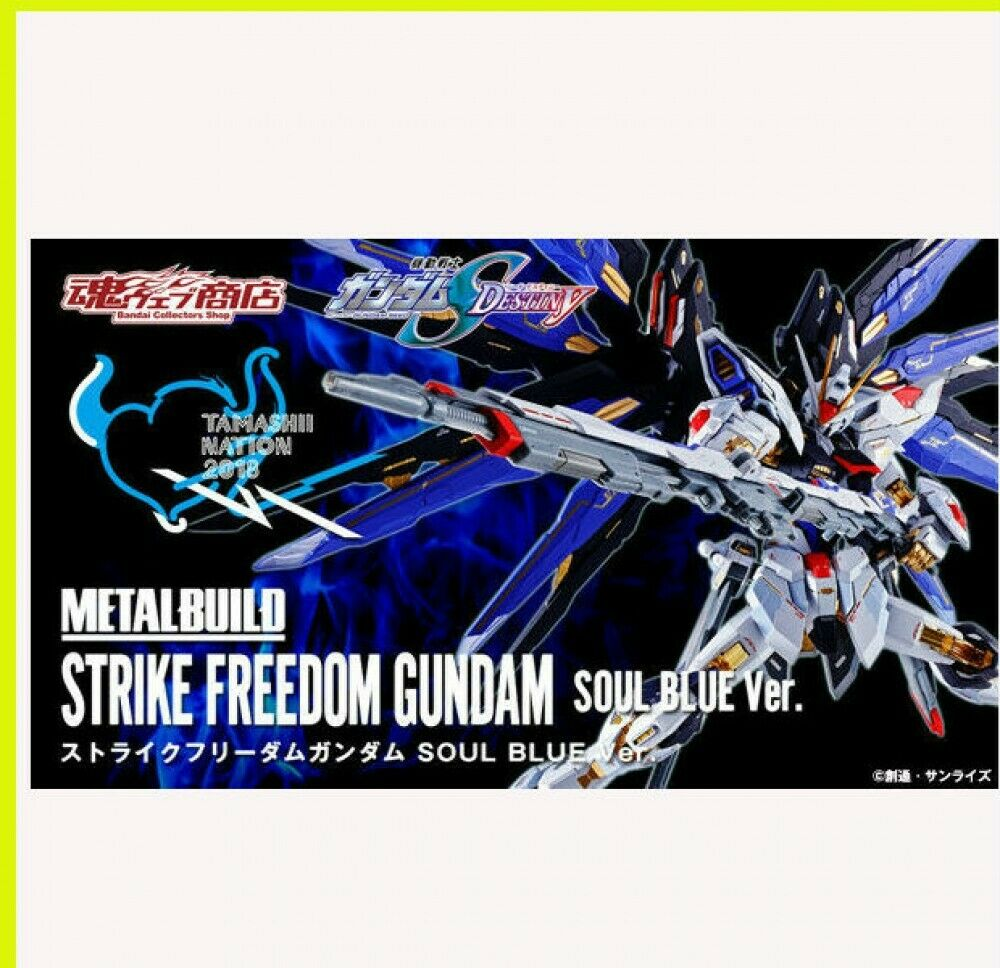 Strike Freedom Gundam Soul Blau Metall Gebaut Japan Tamashii Nation