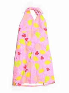 Girl Lilly Pulitzer Pink Marzipan Fruit Halter Dress Size 12