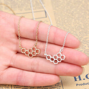Rose Flight Tracker Honeycomb Beehive Necklace In Free Gift Bag/box Gold Or Silver Uk Pendant