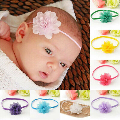 10Pcs//set Flower Bow Hair Band Headband Elastic For Babys Girls Infant Toddler