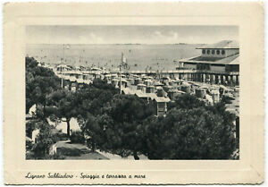 Dettagli Su Lignano Sabbiadoro Udine Spiaggia E Terrazza A Mare 1957