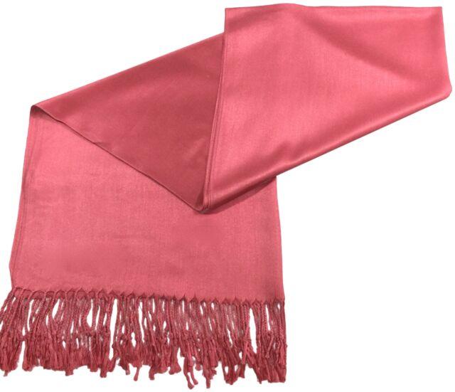 8515ef13fb6 Pastel Pink Solid Colour Pashmina Shawl Scarf Wrap Pashminas Shawls ...