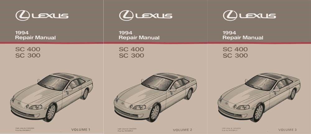 1994 Lexus SC 400 SC 300 Shop Service Repair Manual Complete Set