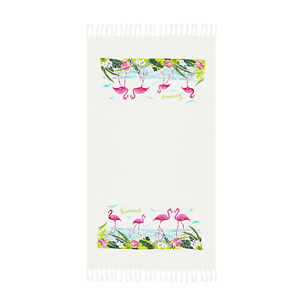 Pink-Flamingo-Beach-Towel-100-Cotton-Soft-Absorbent-Large-Bath-Towel-by-Hencely