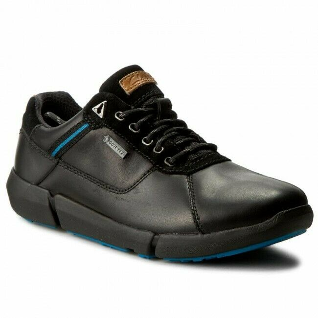Clarks BNIB Mens Casual shoes TRIMAN LO GTX Black leather UK 11   46