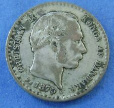 Denemarken - Denmark 10 Ore 1875 Cristian IX - Silver - KM# 795.1