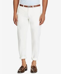 d878c030 Details about NEW MENS POLO RALPH LAUREN CLASSIC FIT WHITE FIVE POCKETS  CHINOS PANTS 34 x 32