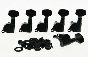 left handed black guitar tuning keys lefty tuners machine heads for strat tele ebay. Black Bedroom Furniture Sets. Home Design Ideas