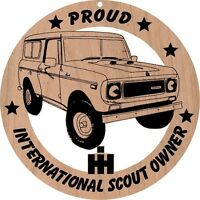International Early Scout Full Cab Wood Ornament Engraved