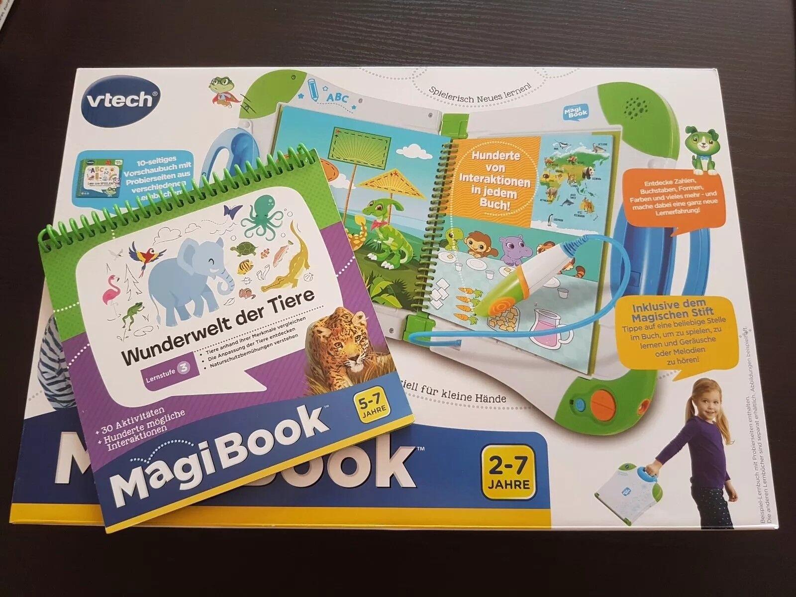 Vtech Magibook NEU Interaktives Lernbuch System Wunderwelt Tiere Lern-Spielzeug