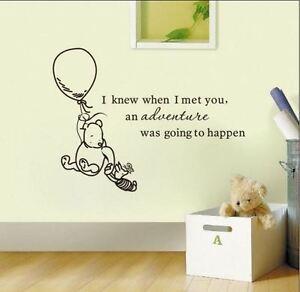 Wall-Stickers-winnie-the-pooh-advanture-happen-vinyl-decal-decor-Nursery-kids
