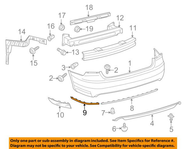 VW VOLKSWAGEN OEM 16-18 Passat-Bumper Trim-Outer Molding Right 5618534602ZZ