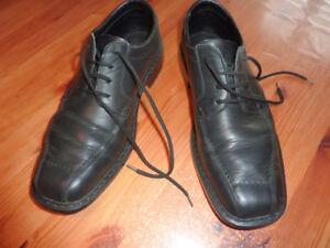 Détails sur RIEKER Chaussures Derbies 42 homme noir mocassins CASUAL cuir Richelieu