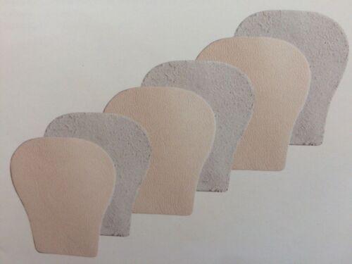 3 Paar Rumpf RU12 Tanz Ballett Spitzenschuh Lederkappen f Pointe Toes