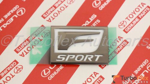 Lexus IS250 IS200T IS350 RC200T RC350 2014-2017 F Sport Fender Emblem Set of 2