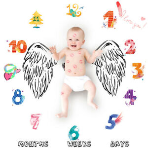 Baby Newborn Letter Milestone Blankets For Rug Photography Photos Props Mats