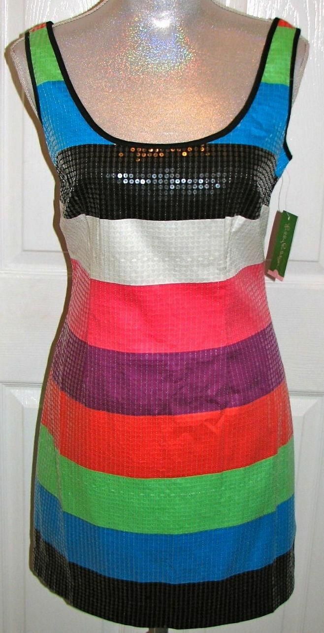 258.00 Nuevo con etiquetas LILLY PULITZER Lucy  Vestido con lentejuelas multiColor-bloque 00,4,12  calidad garantizada