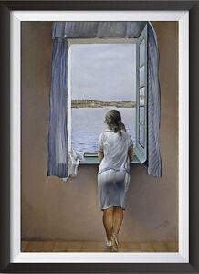Salvador-Dali-039-Person-at-the-Window-039-Surreal-Art-A4-Large-Print