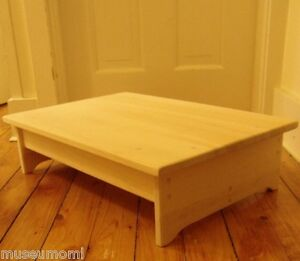 Handcrafted Heavy Duty Wood Bedside Bed Step Stool 16 Deep 23 5 Wide H Ebay