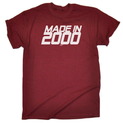 new Funny Novelty T-Shirt Mens tee TShirt 2000 Made In