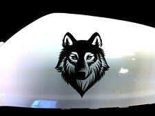 Wolf Werewolf adhesivos para coches ala Espejo Estilo calcomanías (juego De 2), Negro