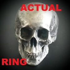 Full jaw skull ring amazing detail UK made fully hallmarked sterling silver