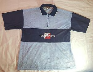 d4c9f67c Vintage Bootleg Tommy Hilfiger Sports 1/4 Zip Mesh Polo Shirt Jersey ...