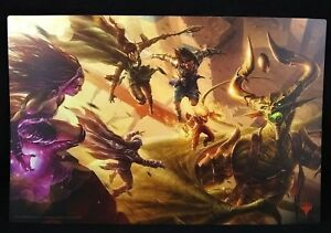 Details About Mtg Magic The Gathering Planeswalkers Poster Art Nicol Bolas 8 5 X13 Excellent