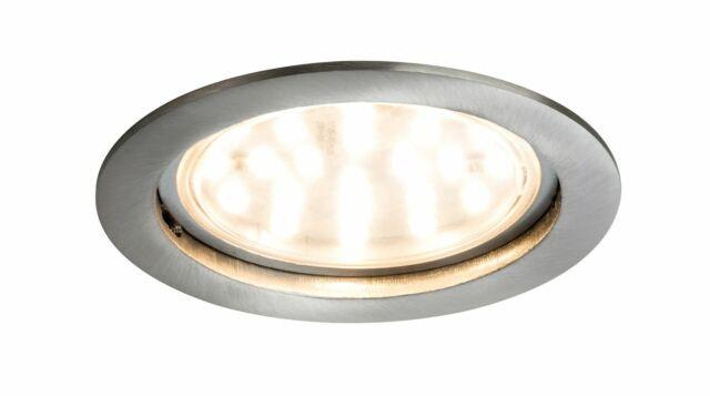 Paulmann 927.82 Premium Lámpara Empotrable Set Moneda Claro Redondo Rígido LED