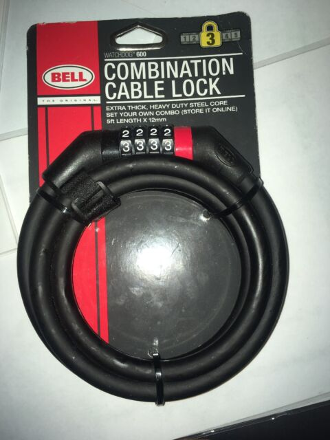 Bell Ballistic 600 Bicycle lock with key Black 12mm Cable 5ft security level 3