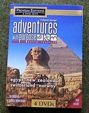 ADVENTURES WITH PURPOSE Richard Bangs 4 DVDs R0 NEW ZEALAND NORWAY SWITZERLAND +