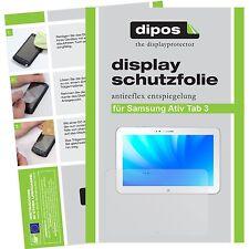 2x Samsung Ativ Tab 3 Schutzfolie matt Displayschutzfolie Folie dipos